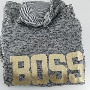 BOSS Marble Cowl Neck Sweatshirt